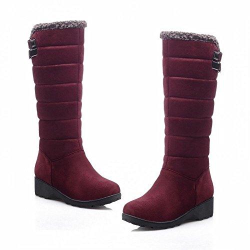 Bottines Rouge Carol Longues Neige Pour Compenses Femmes De Vin Bottes Shoes Dcontractes 55BzrxwPqS