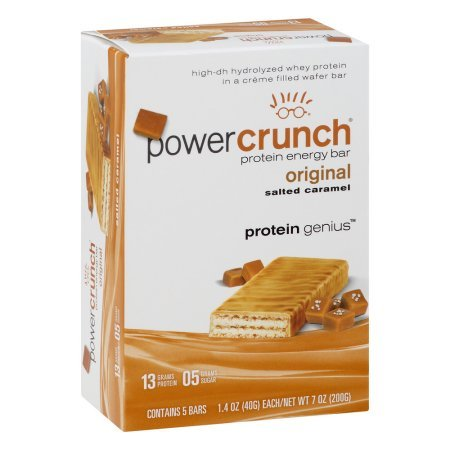 Power Crunch Original Protein Energy Bar (Salted Caramel, 1.4 Oz, 5 Ct, Pack Of 1)