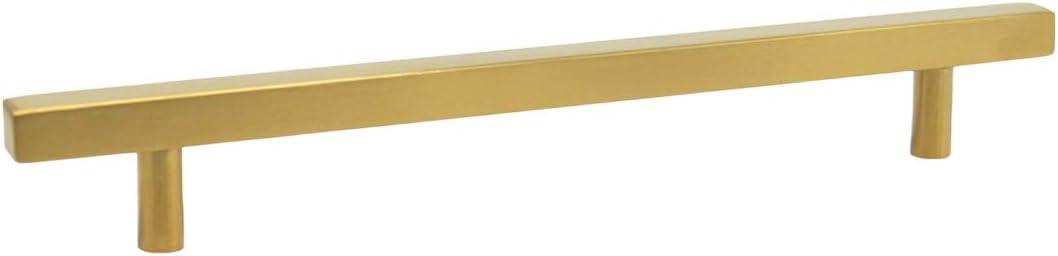 Probrico Poign/ée de placard de cuisine en acier inoxydable bross/é en laiton pour tiroir de chambre /à coucher Dor/é Hole Center: 192mm 1 Pack acier inoxydable
