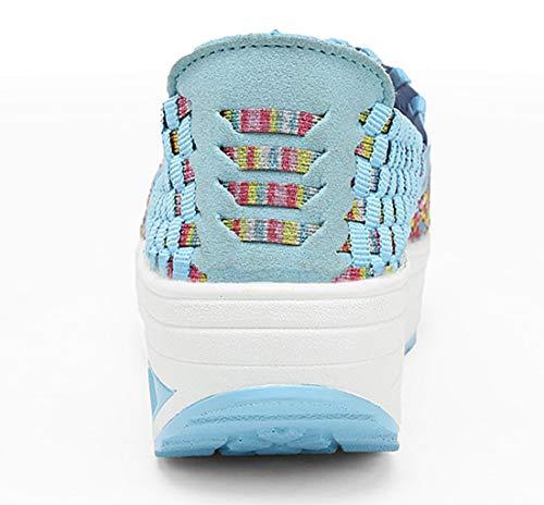para Mujer AIRAVATA Blue SH075 1668 Zapatillas pqnqwfxEg6