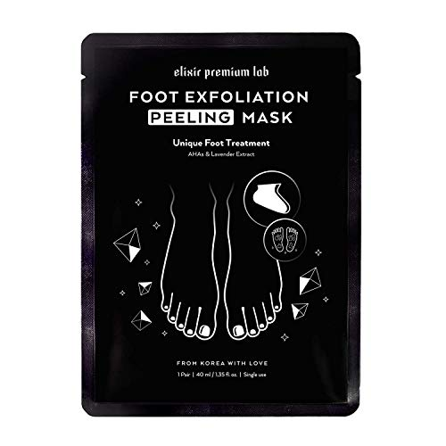 Elixir Exfoliating and Moisturizing Foot Mask - Soft Baby Feet Exfoliator for Dry Feet - Soft Touch Peel Off Booties - Best Korean Foot Peel Socks - 1 Pack