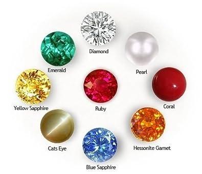 getgemstones Multicolour Crystal Gemstones for Men and Women (4 mm)