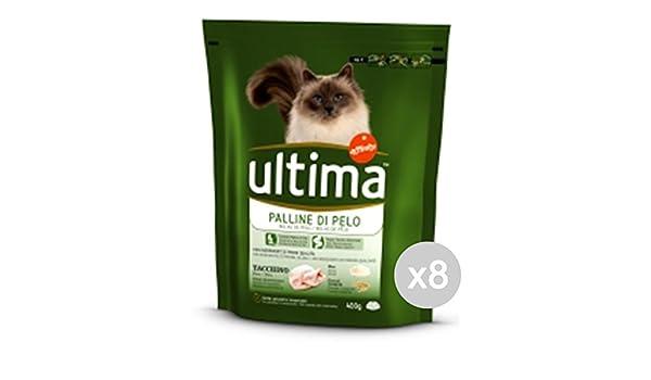 Ultima Juego 8 Gato 203 Croccantini Hairball 400 g Comida para Gatos: Amazon.es: Productos para mascotas