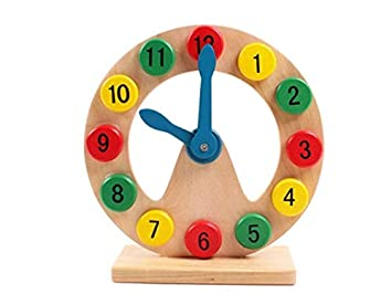 Wooden Montessori Toys Parenting Time Numbers Clock Learning Education Funny Gadgets Interesting Toys For Children Birthday Gift Home