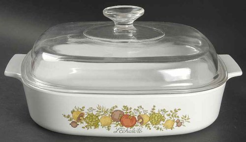 Corning Ware Spice of Life Square Casserole w/ Lid ( 10 3/8