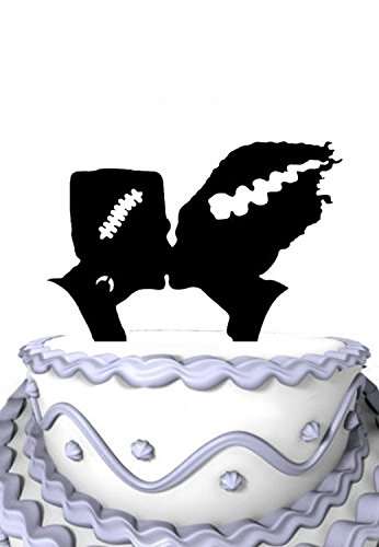 Meijiafei Halloween Monster Cake Toppe Wedding Cake Topper -