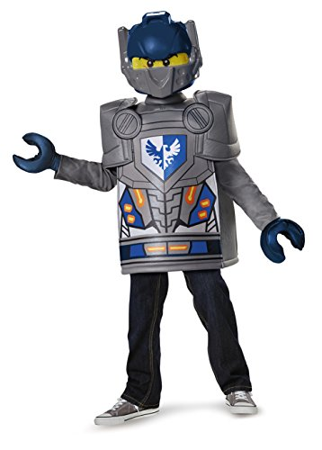 Lego Knight Costume (Disguise Clay Classic Lego Nexo Knights Costume, Gray, Small)