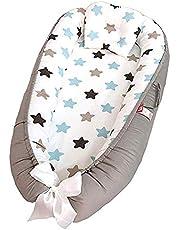Sharing Co babyvilstol och babybo för spädbarn, babykorg, 100 % mjuk bomull, premiumkvalitet och större storlek, ventilerande, allergivänlig, bärbar