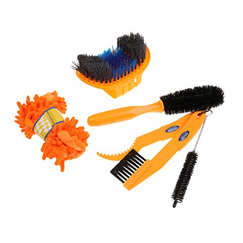Fenteer Cycling Bicycle Chain Clean Brush Gear Grunge Brush Cleaner Scrubber Tool by Fenteer