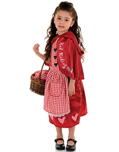 Underwraps Big Girl's Little Red Riding Hood Costume, Large Childrens Costume, Multi, Large