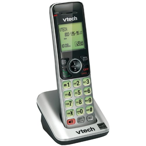 Bay Boca (VTech CS6609 Accessory Cordless Handset, Silver/Black | Requires a VTech CS6619, CS6629, CS6648, or CS6649 Expandable Phone System to Operate)