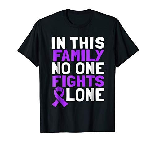 General Cancer Ribbon - General Cancer Awareness Lavender Ribbon Support T Shirt