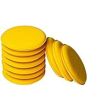 WildAuto Coche Esponja De Pulido Cera Almohadillas Aplicador De Cera Grande para Limpiar Coches Vehículo, Cristal, Zapatos - Amarillo