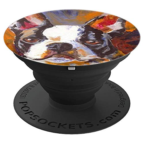 Boston Terrier Painting - PopSockets Grip and Stand for Phones and Tablets]()