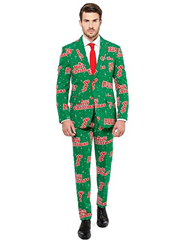 OppoSuits Men's Happy Holidude - Party Costume Suit, 40 -
