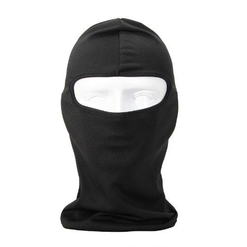 - Hengangy long Cycling Sports Face Mask Color Option Under Bike Football Ultra Thin Helmet Ski Headgear Balaclava (Black)