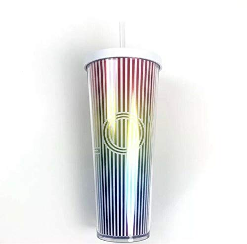 Starbucks 2019 Summer Collection LOVE IRIDESCENT RAINBOW Acrylic Cold Cup Tumbler 24 oz