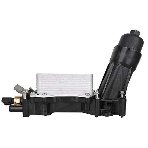 68105583AF Engine Oil Filter Adapter Housing Assembly Complete Kit Includes Temp Sensors, Bypass Valve, Spring, Filter w/ Gaskets fit 3.6 V6 Engine for Chrysler Dodge Jeep Ram 68105583AA ()