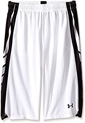 105971f91c Under Armour Boys Select Basketball Shorts Youth Small WHITE: Amazon ...