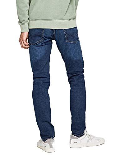000 Slim Jeans Dark Denim Wash wiser Homme Bleu Jean Hatch Used Pepe w1qUP7