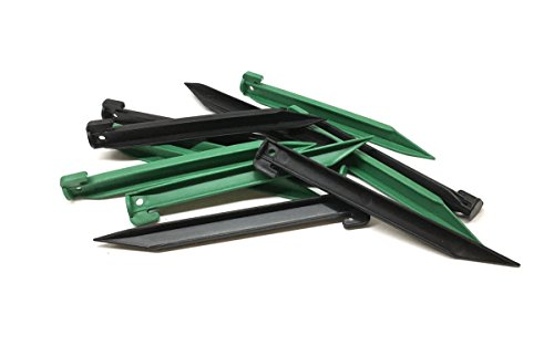 "um Heavy Duty Plastic Tent Pegs - Garden or Camping Nails Stakes 9"" Length (Plastic Tent Pegs)"