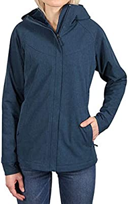Kirkland Signature Ladies/' Softshell Hooded Fleece Lined Jacket