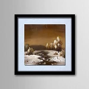 HJ pintura al óleo diseño moderno pintado a mano de madera pintadas de pintura natural marco frameless