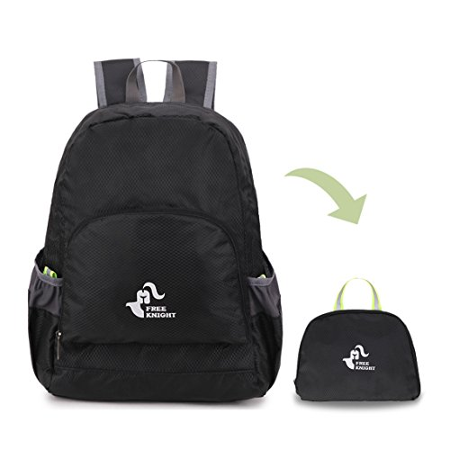 WildX Small Backpack Lightweight Mini Hiking Backpack Foldable for Camping