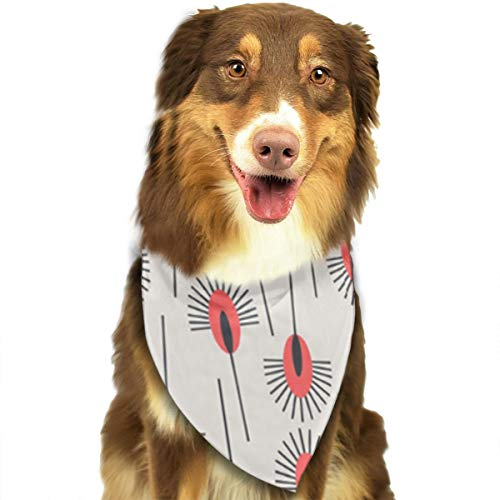 FRTSFLEE Dog Bandana Peacock Poppy Scarves Accessories Decoration for Pet Cats and -