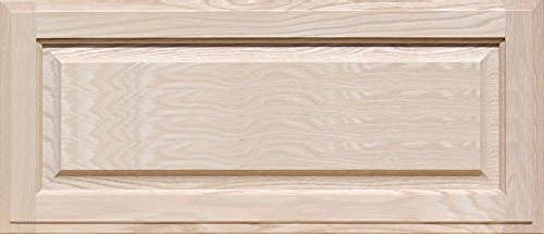 Oak Front Door (Unfinished Oak Drawer Front, Square with Raised Panel by Kendor 12H x 28W)
