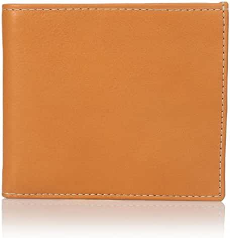 Leone Braconi Men's Bi Fold Wallet, Orange