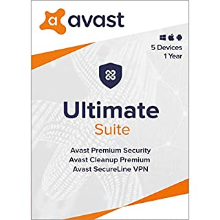 Avast Ultimate 2021   Antivirus+Cleaner+VPN   5 Devices, 1 Year [PC/Mac/Mobile Download]