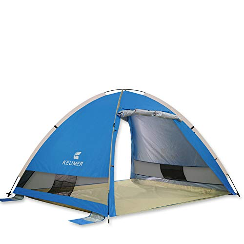 KEUMER Anti-Wind Outdoor Beach Sunshade Tent Sunscreens 3-4 People Fishing Shed Beach Tent