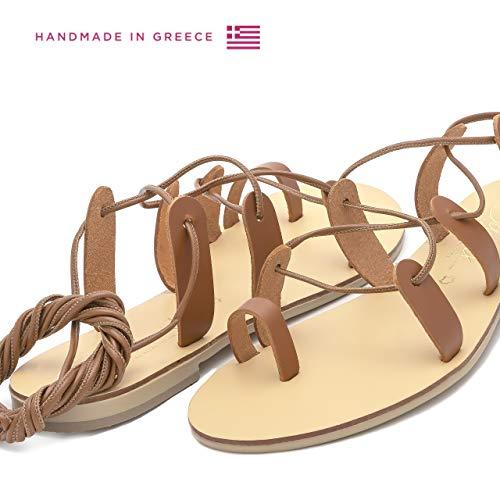 Spartiates Femme Naturel Chics Faites Main en Chaussures bohèmes Schmick Helena Sandales Tan Plates la pour Cuir à d'été wxgqfWIAB