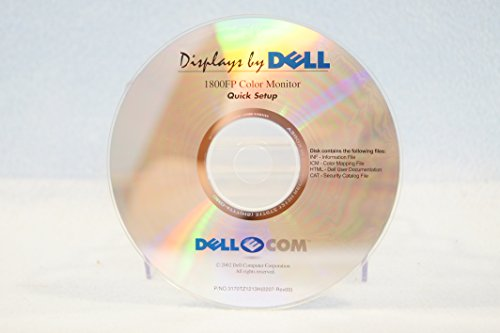 Displays by Dell 1800 FP Color Monitor Quick Setup: Computer Program PC Software Installation Disc: Part #3170TZ1213H(0207-Rev00) Year on Disc: 2002 -