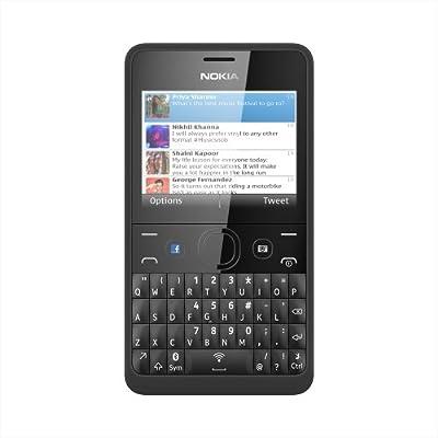 f1351b175 Nokia Asha 210 SIM-Free Mobile Phone - Black  Amazon.co.uk  Electronics
