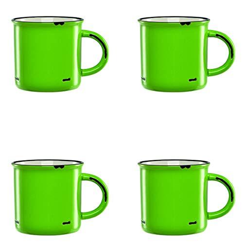 Culver 17-Ounce Countryside Ceramic Mug Set of 4 (Lime)