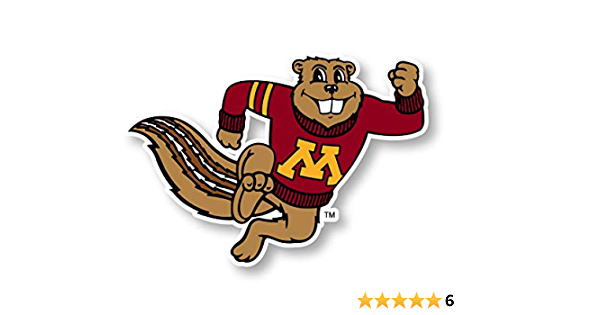 R and R Imports Minnesota Gophers Vinyl Decal Sticker 3 Pack 4-Inch Each