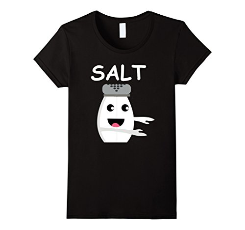 Womens Matching Halloween Costume SALT and Pepper Shirt for Couples Small (Salt And Pepper Couple Costumes)