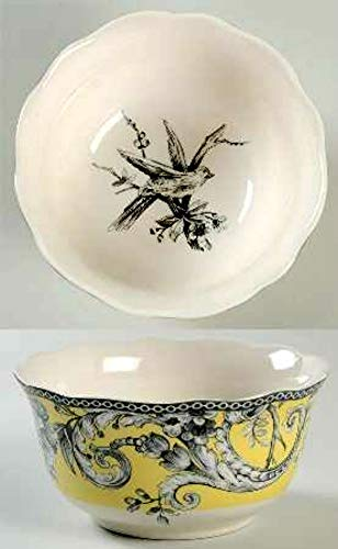 222 Fifth Adelaide Yellow Cereal/Soup Bowls 5.5
