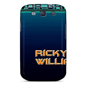 Scratch Resistant Hard Phone Cover For Samsung Galaxy S3 With Custom Vivid Miami Dolphins Skin MansourMurray