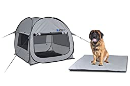 GigaTent Pet PopUp Tent with Fitted Foam Pad (Large)