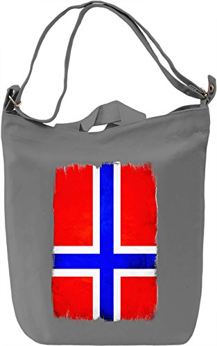 Norway Flag Borsa Giornaliera Canvas Canvas Day Bag| 100% Premium Cotton Canvas| DTG Printing|