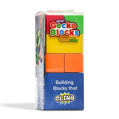(Sticky Building Set for Toddlers. Blocks Stick Together Wet or Dry, Works in Bath, Sticks to Windows. Leaves no Residue.)