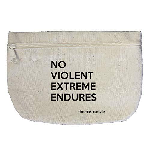 No Violent Extreme Endures (Thomas Carlyle) Cotton Canvas Makeup Bag