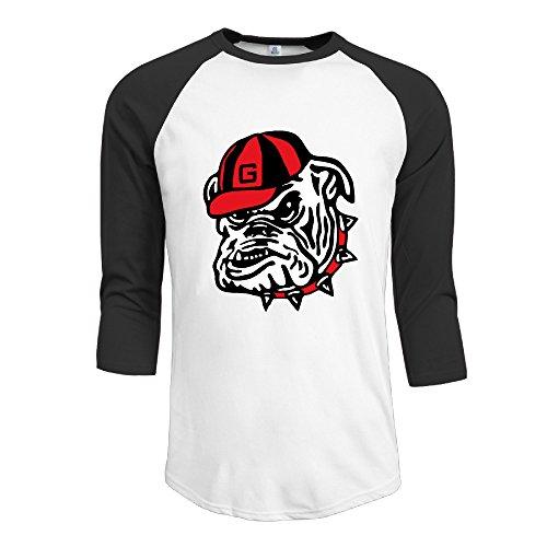 GUC Men's 3/4 Sleeve Tees - University Of Georgia Bulldog Club Black L