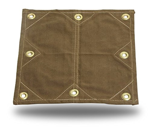 6x10 18oz Heavy Duty Canvas Tarp with 2' Grommets - Reinforced Patches! -