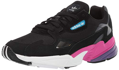 adidas Originals Women's Falcon Running Shoe Black/Shock Pink, 7 M ()