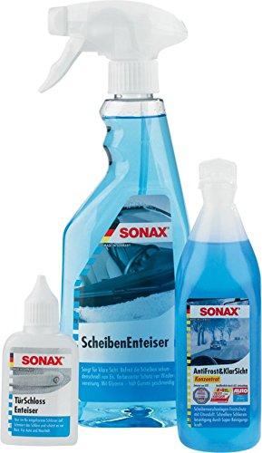 SONAX 331900 WinterFitSet 3-tlg. (enthält 500ml SONAX ScheibenEnteiser, 250ml SONAX AntiFrost&KlarSicht Konzentrat, 50ml SONAX SchlossEnteiser)