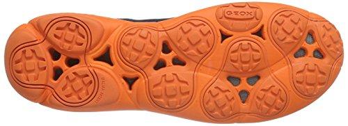 Geox U NEBULA B - zapatilla deportiva de material sintético hombre azul - Blau (C0820NAVY/ORANGE)